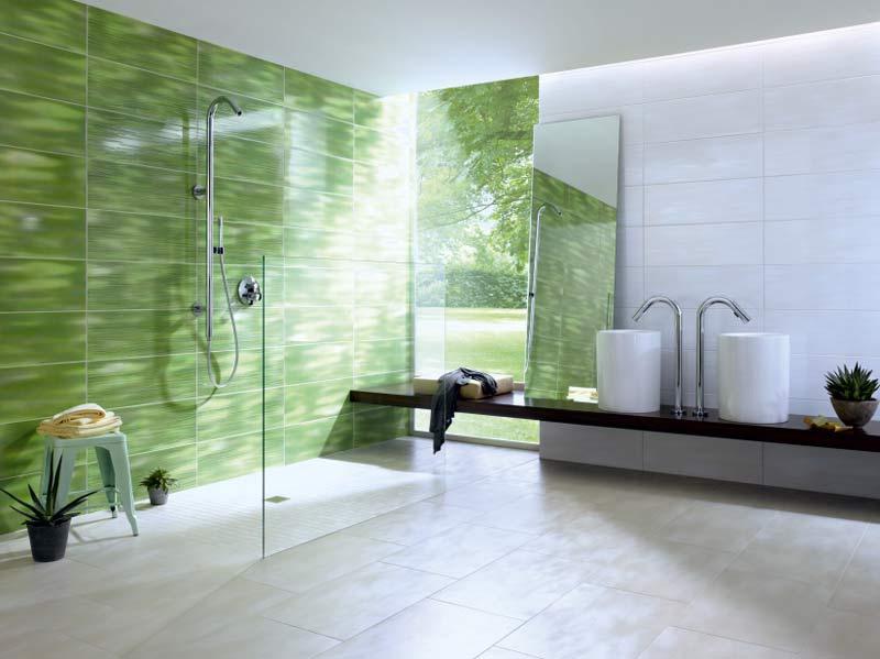 Bodenfliesen aus Naturstein im Badezimmer
