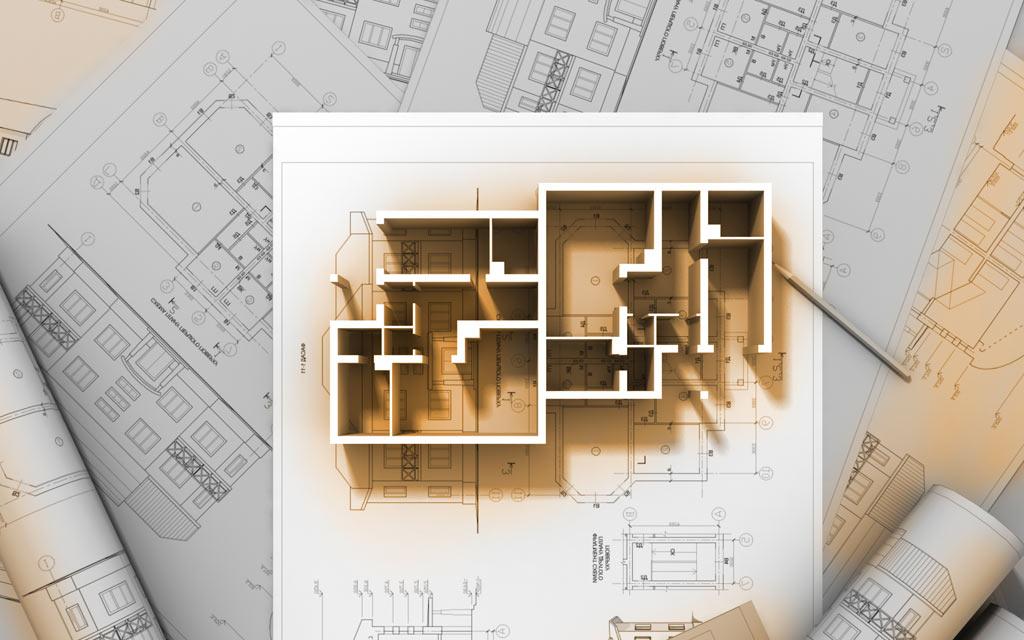 CAD Schnittplan eines Hauses