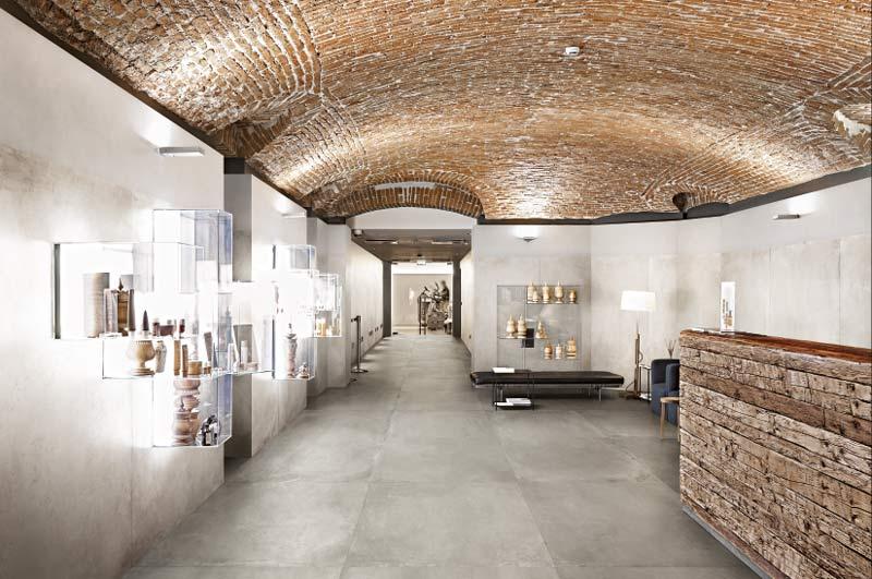 Bodenfliesen in Betonoptik in Galerie